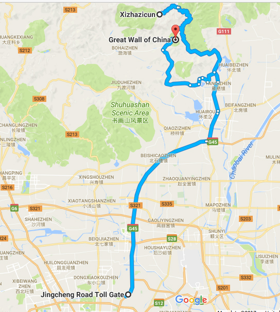 taxi to great wall of china, mutianyu, jiankou, hike through, xizhazi, car rental with english driver, cab, day tour