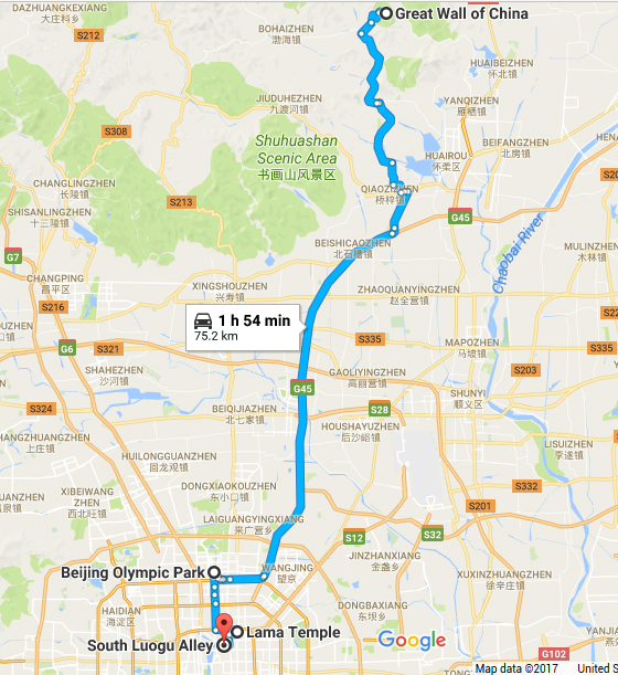 taxi to great wall of china, mutianyu, olympic, lama temple, south luogu alley, car rental with english driver, cab, day tour