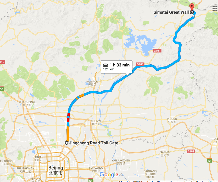 taxi to great wall of china, mutianyu, jiankou, hike through, xizhazi, car rental with english driver, cab, day tour, simatai great wall at gubei water town